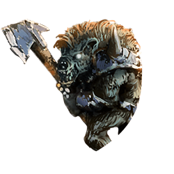 Gnoll w axe shield