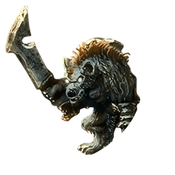 Gnoll w sword shield