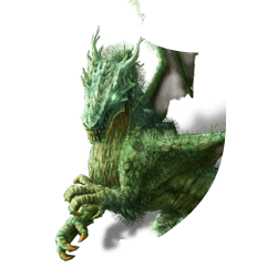 Green dragon shield