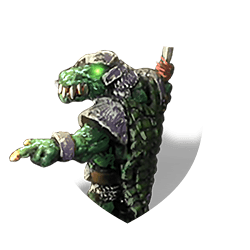 Lizardman captain shield