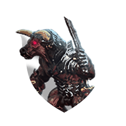 Minotaur warrior shield