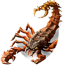 Monstrous scorpion shield