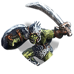 Orc w sword shield