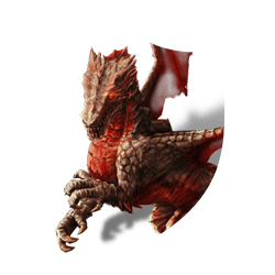 Red dragon shield