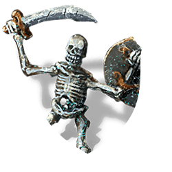 Smiling skeleton shield